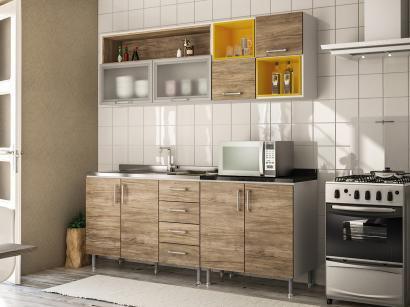 Cozinha Completa Politorno Floripa com Balcão - 8 Portas 4 Gavetas
