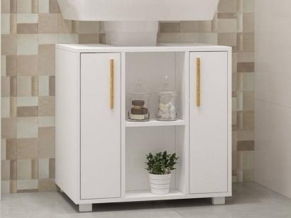 Gabinete para Banheiro 2 Portas - Revestido em BP BRV Móveis Versa BBN 08