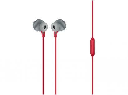Fone de Ouvido JBL Intra-auricular com Microfone  - Esportivo Vermelho Resistente à Água
