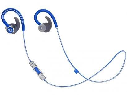 Fone de Ouvido Bluetooth JBL Intra-auricular - com Microfone Esportivo Resistente à Água Azul