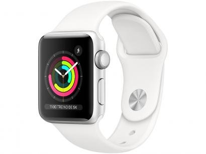 Apple Watch Series 3 38mm GPS Integrado  - Wi-Fi Bluetooth Pulseira Esportiva 8GB