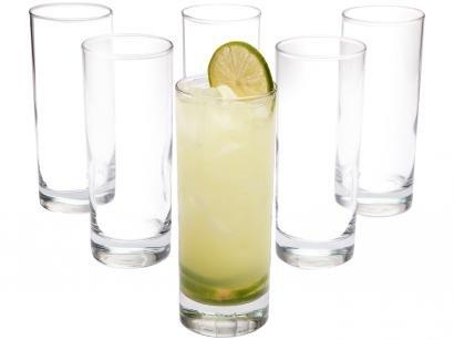 Jogo de Copos de Vidro 330ml de Vidro 6 Peças - Vicrila Long Drink Scotland