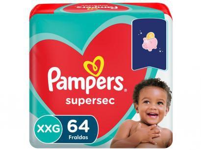 Fraldas Pampers Supersec Noturno Tam. XXG - + de 14kg 64 Unidades