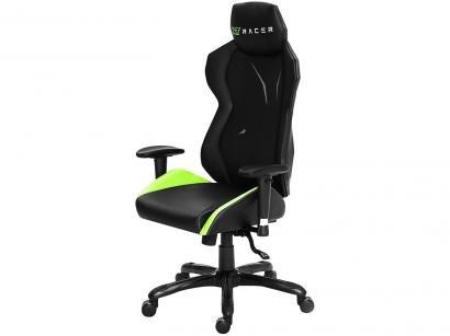 Cadeira Gamer XT Racer Reclinável Preta e Verde - Platinum Series XTP140