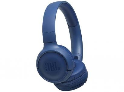 Fone de Ouvido Bluetooth JBL com Microfone Azul - T500BT