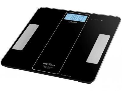 Balança Digital de Banheiro Portátil Bluetooth - até 180Kg Britânia BBL03PBT