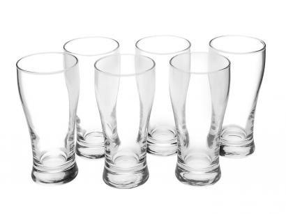Jogo de Copos de Vidro para Cerveja 200ml - 6 Peças SM Lager