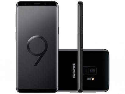 "Smartphone Samsung Galaxy S9 128GB Preto 4G - 4GB RAM Tela 5,8"" Câm. 12MP + Câm. Selfie 8MP"