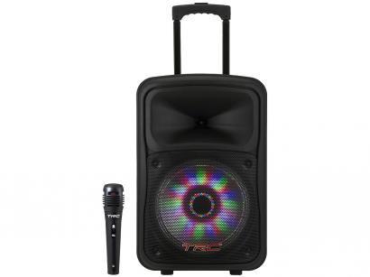 Caixa de Som Bluetooth TRC 536 Ativa Amplificada - 480W com Microfone USB