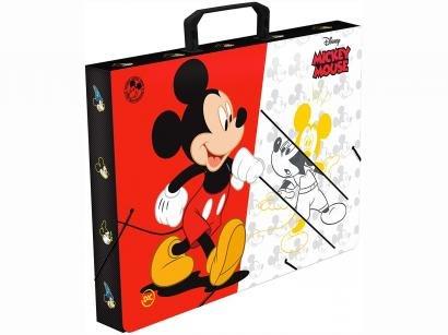 Pasta Maleta de Plástico 26x36cm com Elástico - Mickey Mouse DAC 2589