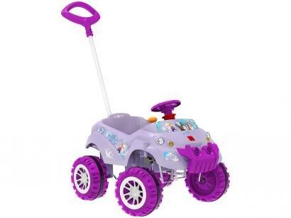 Carrinho de Passeio Infantil Baby Cross  - Frozen Disney com Pedal com Empurrador Bandeirante