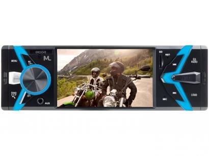 Som Automotivo Multilaser MP5 Player FM Bluetooth - USB Micro SD Auxiliar Groove P3341
