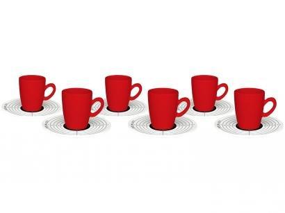 Jogo de Xícaras de Café Porcelana 75ml - Oxford Café ao Alvo 6 Peças