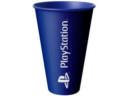 Copo PlayStation Azul 550ml - Banana Geek katakana