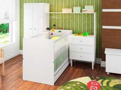 Quarto de Bebê Completo com Berço Guarda-Roupa - Art In Móveis Meu Fofinho CJ002 BR