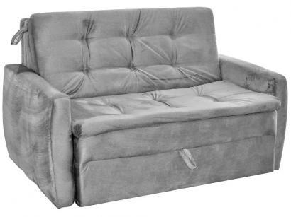 Sofá-cama Casal 2 Lugares Reclinável Suede - Matrix Meg