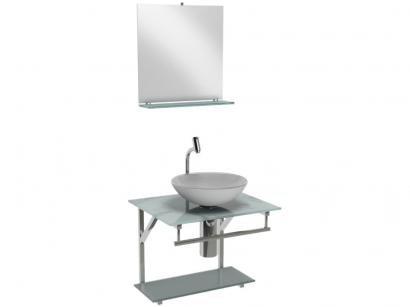 Gabinete para Banheiro de Vidro com Cuba e Espelho - VB Cristais Advance VB2021/40MBR