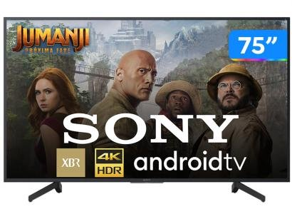 """Smart TV 4K LED 75"""" Sony XBR-75X805G Android Wi-Fi - HDR Inteligência Artificial Conversor Digital"""