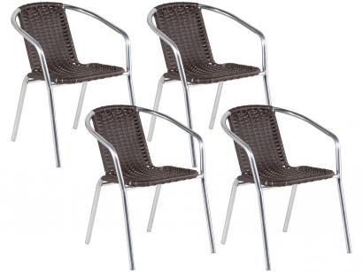 Cadeira para Jardim/Área Externa Alumínio - 4 Peças Alegro Móveis A99