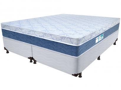 Cama Box King Size (Box + Colchão) ProDormir - Colchões Mola 34cm de Altura Sensitive Blue