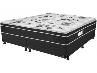 Cama Box Queen Size (Box + Colchão) ProDormir - Colchões Mola 30cm de Altura Sensitive Born Black