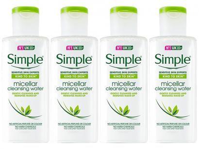 Água Micelar Simple Sensitive Skin Experts - Micellar Cleansing Water 200ml Cada 4 Unidades