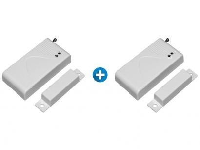 Kit Sensor de Abertura de Portas e Janelas - 2 Unidades Sem Fio ON Eletrônicos