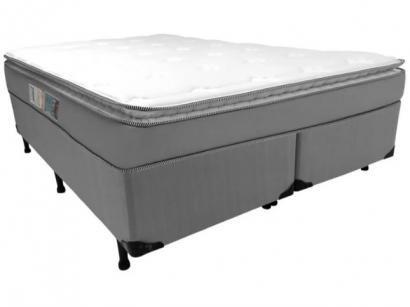 Cama Box King Size (Box + Colchão) Luckspuma  - Molas Ensacadas 28cm de Altura