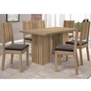 Conjunto de Mesa Cena com 6 cadeiras - Teka Tx - Dj Móveis