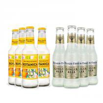4x Fever-Tree Ginger Beer 200ml + 4x Água Tônica Botânica Indian Classic 275ml -