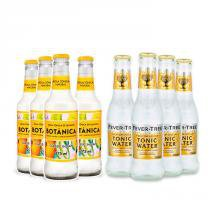 4x Fever-Tree Indian Tonic Water 200ml + 4x Água Tônica Botânica Indian Classic 275ml -