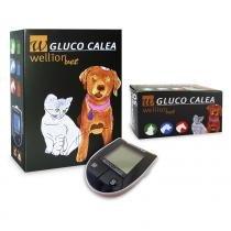 50 Tiras Reagentes para Teste de Glicose em Animais Gluco Calea + Monitor - Wellion -