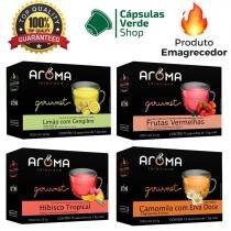 60 sachês chá desinchar  emagrecer - termogênico - aroma selezione -