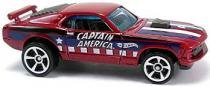 70 Ford Mustang Mach1 - Carrinho - Hot Wheels - Marvel Comics - Captain America -