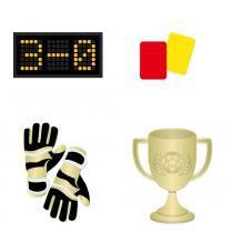 8 Acessórios para Diversão Futebol Sort.  Dec. Festas - Cromus