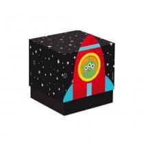 8 Caixas Cubo C/Luva Astronauta 7,5X7,5X7Cm Dec. Festas - Cromus