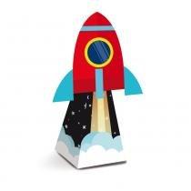 8 Caixas Mini Cone C/Aplique Foguete Astronauta 4X4X12Cm - Cromus