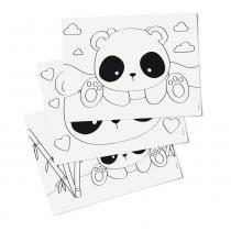 8 Folhas Para Colorir Infantil Panda 23,5X16Cm - Cromus