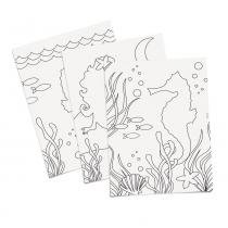 8 Folhas Para Colorir Infantil Sereia 23,5X16Cm - Cromus