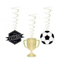 8 Mobiles Futebol Decoração Festas - Cromus