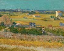 A Colheita - van Gogh  Tela Gigante Para Quadro - Santhatela