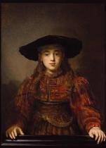 A Menina do Quadro - Rembrandt  Tela Gigante Para Quadro - Santhatela
