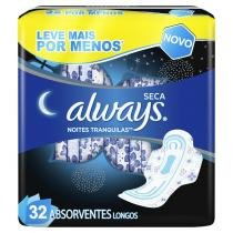 Absorvente Always Active Noturno com Abas 32 Unidades -