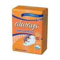 Absorvente externo always básico malha seca c/ abas leve 32 pague 28. -