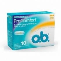 Absorvente interno o.b. médio procomfort - 10 unidades - Ob