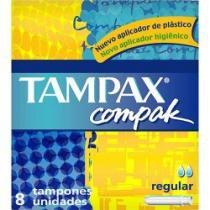 Absorvente Interno Tampax Compak Regular com 8 Unidades -