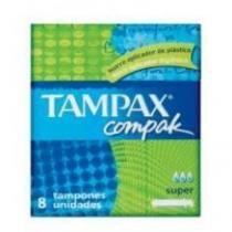 Absorvente Interno Tampax Compak Super com 8 Unidades -