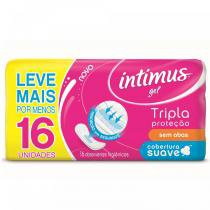 Absorvente intimus gel normal cobertura suave sem abas 16 unidades -