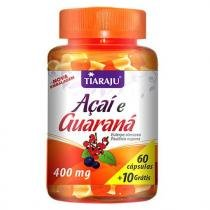 Açaí e Guaraná - Tiaraju - 60 + 10 cápsulas 400mg - Tiaraju
