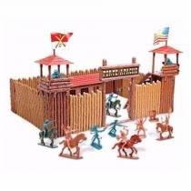 Acampamento Forte Apache Fort The West c/ 20 Figuras - Gulliver -